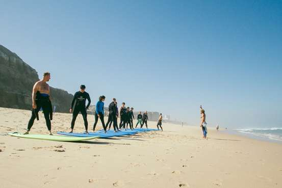 cliff surf camp surf lesson beginners